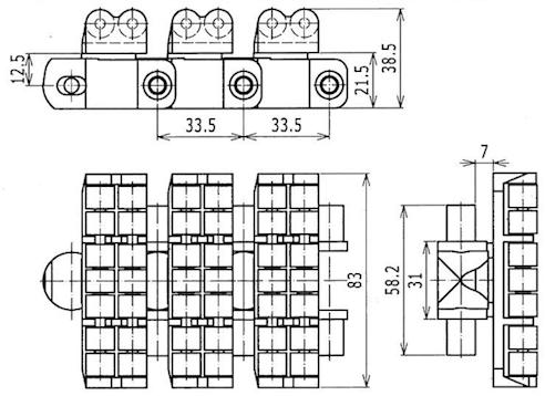 Ilustrasi Ukuran Flexible Roller Top Chain 7100R | Trindo Sukses Mandiri