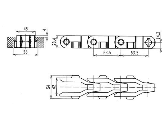 Ilustrasi Produk Grate Chain 2600TAB-O | Trindo Sukses Mandiri