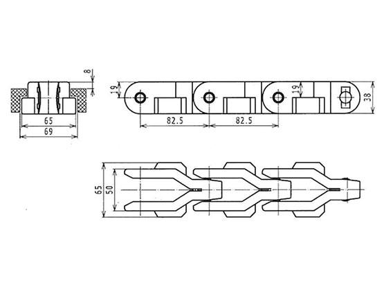 Ilustrasi Produk Grate Chain 2800TAB-O | Trindo Sukses Mandiri