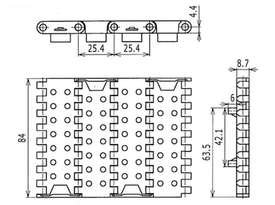 Ilustrasi Produk Plastic Modular Belt PFTDP1000MTW | Trindo Sukses Mandiri