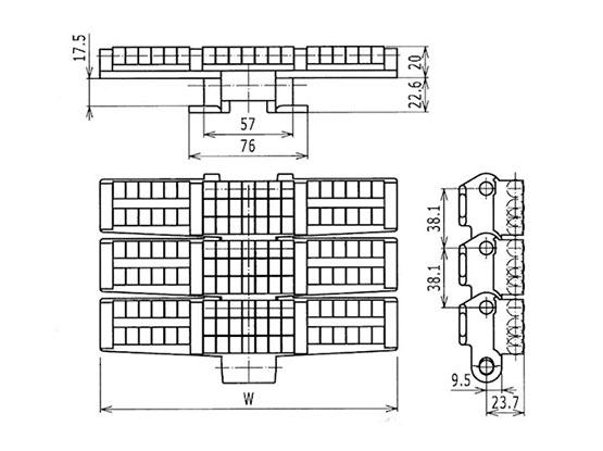 Ilustrasi Ukuran LBP- Chain Heavy Duty LBP882TAB | Trindo Sukses Mandiri