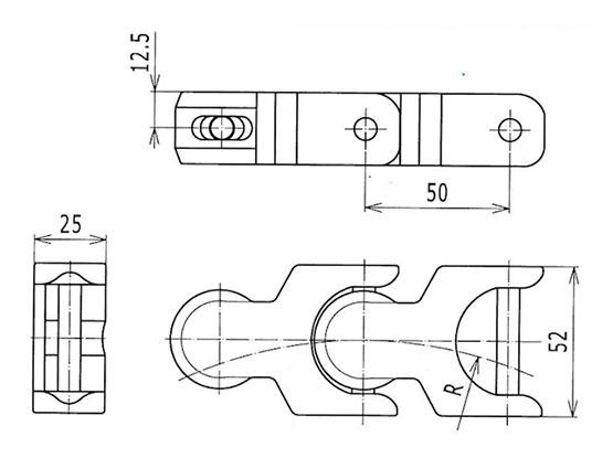 Ilustrasi Ukuran Multiflex Chain 1701 | Trindo Sukses Mandiri