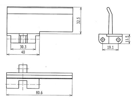 Ilustrasi Ukuran Plastic Chain Belt Flat Top Flights 5931 | Trindo Sukses Mandiri