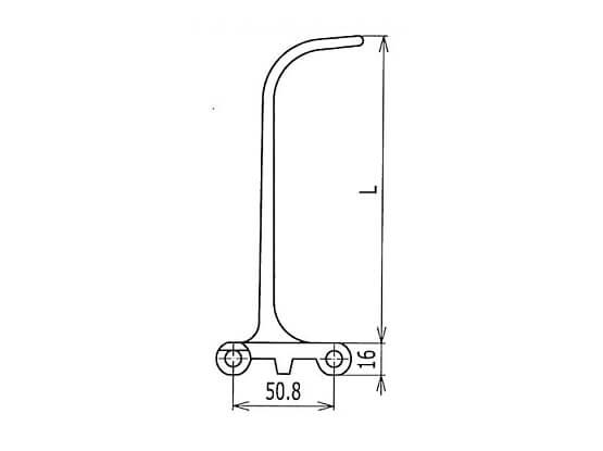 Ilustrasi Ukuran Plastic Modular Belt 800 Scoop Flights | Trindo Sukses Mandiri