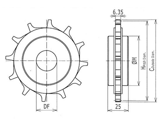 Ilustrasi Ukuran ilustrasi-ukuran-plastic-modular-belt-classic-sprocket-510-trindo-sukses-mandiri