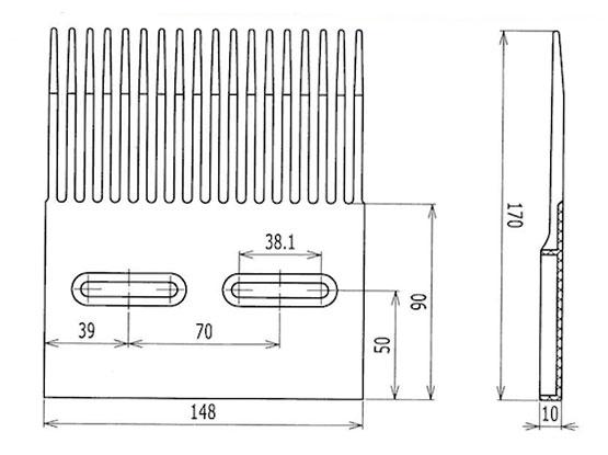 Ilustrasi Ukuran Plastic Modular Belt FTPM2531 | Trindo Sukses Mandiri