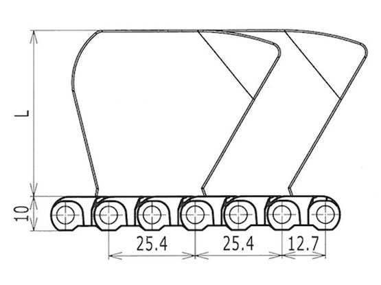 Ilustrasi Ukuran Plasti Modular Belt Side Guard M1200 | Trindo Sukses Mandiri