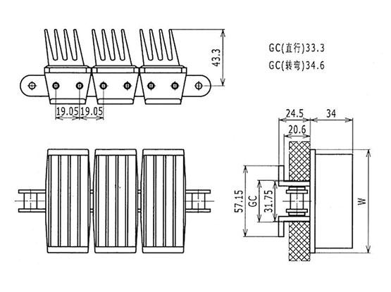 Ilustrasi Ukuran Snap On Gripper Chain 1873G4 | Trindo Sukses Mandiri
