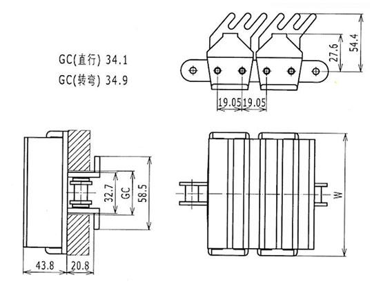 Ilustrasi Ukuran Snap On Gripper Chain 1873TAB GJ | Trindo Sukses Mandiri