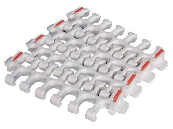 Plastic Modular Belt 2400A Radius Flush Grid | Trindo Sukses Mandiri