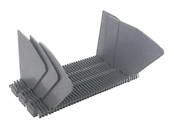 Plastic Modular Belt 400 Sideguards A | Trindo Sukses Mandiri