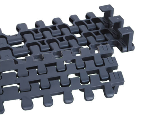 Plastic Modular Belt 7956 Radius Solid Top With TAB | Trindo Sukses Mandiri