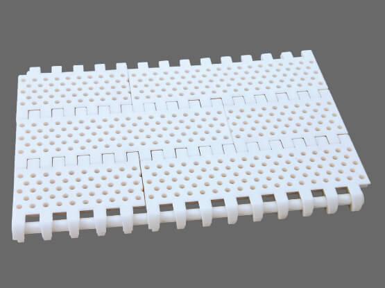 Plastic Modular Belt 800 Perforated Flat Top Round Holes | Trindo Sukses Mandiri